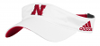 "Nebraska Cornhuskers Adidas NCAA ""Game On"" Performance Adjustable Visor"