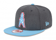 Houston Oilers New Era 9FIFTY NFL Heather Graphite Throwback Snapback Hat