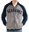 "Seattle Seahawks NFL G-III ""Legend"" Men's Full Zip Embroidered Track Jacket"