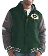 "Green Bay Packers G-III NFL ""Top Brass"" Men's Premium Varsity Jacket"
