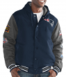 "New England Patriots G-III NFL ""Top Brass"" Men's Premium Varsity Jacket"