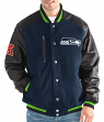 "Seattle Seahawks G-III NFL ""Heavy Hitter"" Men's Premium Varsity Jacket"