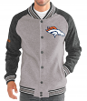 "Denver Broncos G-III NFL ""The Ace"" Men's Premium Sweater Varsity Jacket"