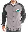 "Miami Dolphins G-III NFL ""The Ace"" Men's Premium Sweater Varsity Jacket"