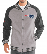 "New England Patriots G-III NFL ""The Ace"" Men's Premium Sweater Varsity Jacket"