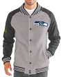 "Seattle Seahawks G-III NFL ""The Ace"" Men's Premium Sweater Varsity Jacket"
