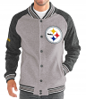 "Pittsburgh Steelers G-III NFL ""The Ace"" Men's Premium Sweater Varsity Jacket"