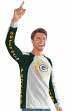 "Green Bay Packers G-III NFL ""Big Hitter"" Men's Long Sleeve Slub Shirt"