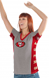 "San Francisco 49ers Women's G-III NFL ""#1 Fan"" V-neck Cap Sleeve T-shirt"
