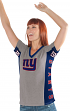 "New York Giants Women's G-III NFL ""#1 Fan"" V-neck Cap Sleeve T-shirt"