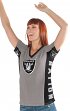 "Oakland Raiders Women's G-III NFL ""#1 Fan"" V-neck Cap Sleeve T-shirt"
