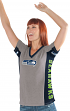 "Seattle Seahawks Women's G-III NFL ""#1 Fan"" V-neck Cap Sleeve T-shirt"