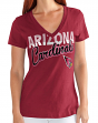 "Arizona Cardinals Women's G-III NFL ""First Down"" V-neck Cap Sleeve T-shirt"