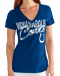 "Indianapolis Colts Women's G-III NFL ""First Down"" V-neck Cap Sleeve T-shirt"