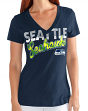 "Seattle Seahawks Women's G-III NFL ""First Down"" V-neck Cap Sleeve T-shirt"