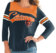 "Chicago Bears Women's G-III NFL ""Touchdown"" Dual Blend 3/4 Sleeve T-shirt"