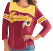 "Washington Redskins Women's G-III NFL ""Touchdown"" Dual Blend 3/4 Sleeve T-shirt"