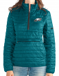 "Philadelphia Eagles Women's NFL ""Spike"" Half Zip Packable Quilted Jacket"