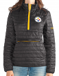 "Pittsburgh Steelers Women's NFL ""Spike"" Half Zip Packable Quilted Jacket"