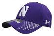 "Northwestern Wildcats Under Armour NCAA Sideline ""Accent"" Stretch Fit Hat"
