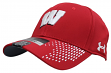 "Wisconsin Badgers Under Armour NCAA Sideline ""Accent"" Stretch Fit Hat"
