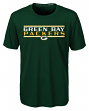 """Green Bay Packers Youth NFL """"Hard Hit"""" Performance Short Sleeve T-Shirt"""