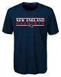 "New England Patriots Youth NFL ""Hard Hit"" Performance Short Sleeve T-Shirt"