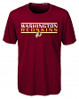 "Washington Redskins Youth NFL ""Hard Hit"" Performance Short Sleeve T-Shirt"