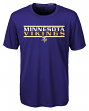 "Minnesota Vikings Youth NFL ""Hard Hit"" Performance Short Sleeve T-Shirt"