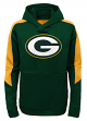"Green Bay Packers Youth NFL ""Bold Logo"" Performance Hooded Sweatshirt"