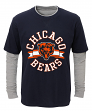 "Chicago Bears Youth NFL ""Definitive"" L/S Faux Layer Thermal Shirt"