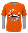 "Denver Broncos Youth NFL ""Definitive"" L/S Faux Layer Thermal Shirt"