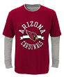 "Arizona Cardinals Youth NFL ""Definitive"" L/S Faux Layer Thermal Shirt"