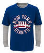 """New York Giants Youth NFL """"Definitive"""" L/S Faux Layer Thermal Shirt"""