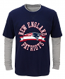 """New England Patriots Youth NFL """"Definitive"""" L/S Faux Layer Thermal Shirt"""
