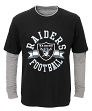 "Oakland Raiders Youth NFL ""Definitive"" L/S Faux Layer Thermal Shirt"