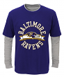 "Baltimore Ravens Youth NFL ""Definitive"" L/S Faux Layer Thermal Shirt"