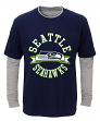 "Seattle Seahawks Youth NFL ""Definitive"" L/S Faux Layer Thermal Shirt"