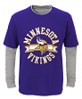 """Minnesota Vikings Youth NFL """"Definitive"""" L/S Faux Layer Thermal Shirt"""