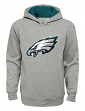"""Philadelphia Eagles Youth NFL """"Primary"""" Pullover Hooded Sweatshirt - Gray"""
