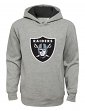 "Oakland Raiders Youth NFL ""Primary"" Pullover Hooded Sweatshirt - Gray"