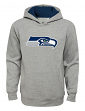 """Seattle Seahawks Youth NFL """"Primary"""" Pullover Hooded Sweatshirt - Gray"""