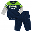 "Seattle Seahawks NFL Infant ""Halfback"" Creeper & Pant Outfit Set"