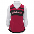 Arizona Cardinals NFL Toddler Girls Cheer Jumper Dress Set w/ Turtleneck