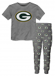 "Green Bay Packers Youth NFL ""Overtime"" Pajama T-shirt & Sleep Pant Set"
