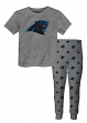 "Carolina Panthers Youth NFL ""Overtime"" Pajama T-shirt & Sleep Pant Set"