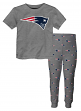 "New England Patriots Youth NFL ""Overtime"" Pajama T-shirt & Sleep Pant Set"