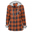 "Denver Broncos Juniors NFL ""Dream Plaid"" Hooded Long Sleeve Flannel Shirt"