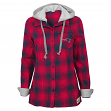 "New England Patriots Juniors NFL ""Dream Plaid"" Hooded Long Sleeve Flannel Shirt"