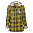 "Pittsburgh Steelers Juniors NFL ""Dream Plaid"" Hooded Long Sleeve Flannel Shirt"